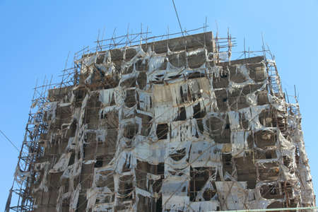 scaffolder: Addis Ababa home building in the Ethiopian capital