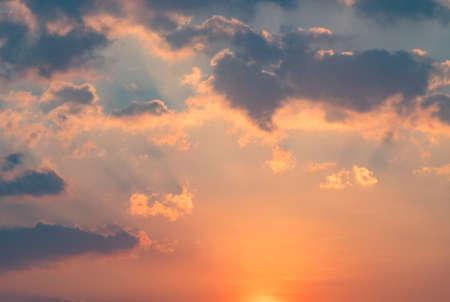 Sky background on sunrise. Nature composition.
