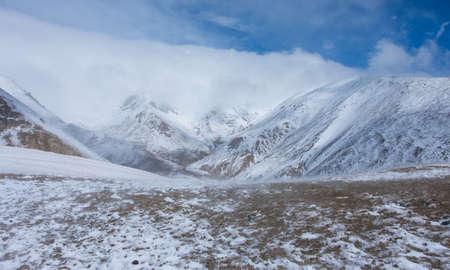 Dzhaniiktu sacred peak in the Altai Mountains in Central Asia