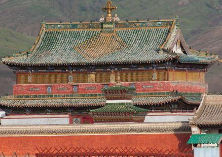 Buddhist monastery Erdene Zu in the steppes of Mongolia Standard-Bild