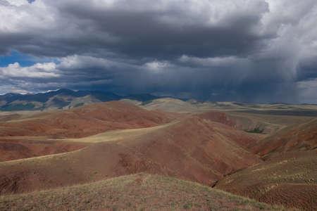 Desert landscape red. Desert and semi-desert