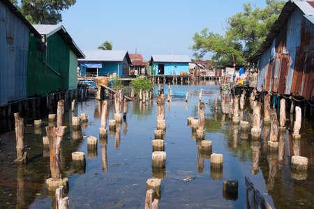House on stilts in Cambodia are everywhere Standard-Bild