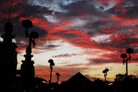 Red Sunset at the mosque