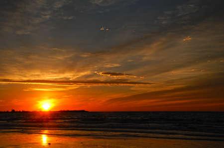 Sunset in pantai panjang Bengkulu Indonesia