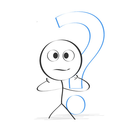 Stick figure with question mark