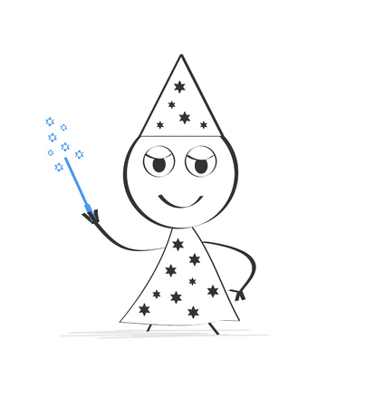 Stick Wizard with Magic Wand