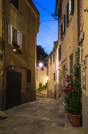 Evening small streets the San - Marino photo