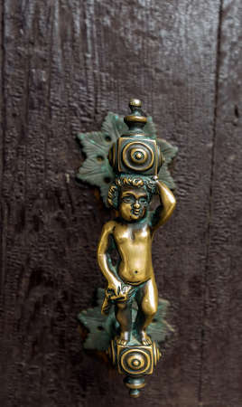 The old the door handle, Venice - Italy photo