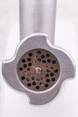 details grinder closeup on a light background photo