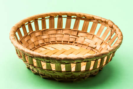 osier: wicker breadbasket Stock Photo