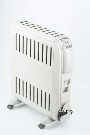 oil heater: heater, electric, oil gray Stock Photo