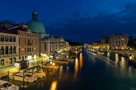 evenings: Colorful canal in Venice evenings Stock Photo