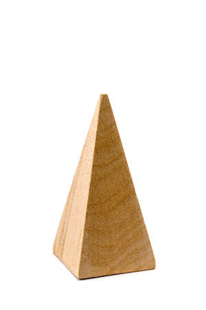 wooden figure: The wooden figure geometric shape, isolated on white
