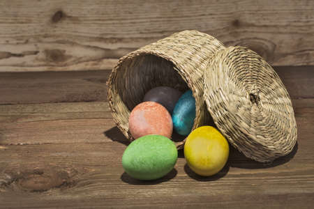 iconostasis: Easter eggs painted in different colors for Easter