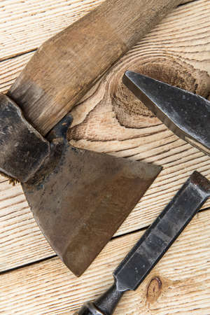 woodworking: Woodworking tools and wood background