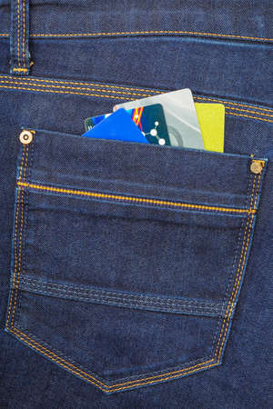 trouser: cards in the pocket of trouser Stock Photo