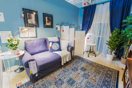 ikea: SAMARA, RUSSIA - JULY 20, 2015: A sample of the interior in IKEA store, Samara. IKEA was founded in of Sweden in 1943, IKEA to have large chain stores around the world Editorial