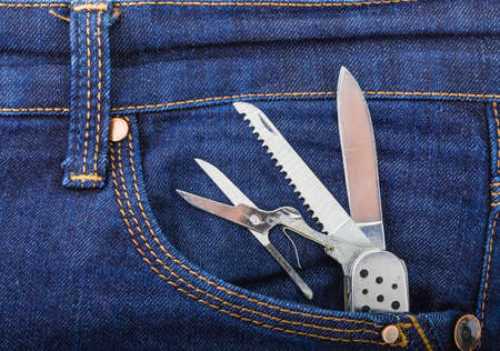 trouser: Pocket knife in the pocket of trouser