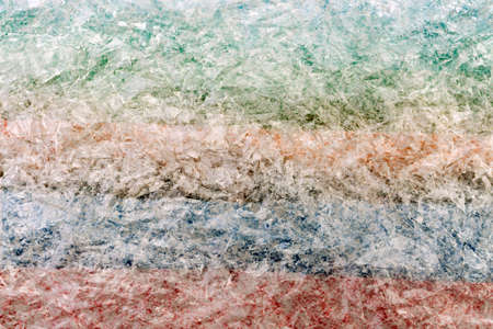 polyethylene film: Fragment of a surface covered with multiple layers of a cling polyethylene film as a background texture Stock Photo