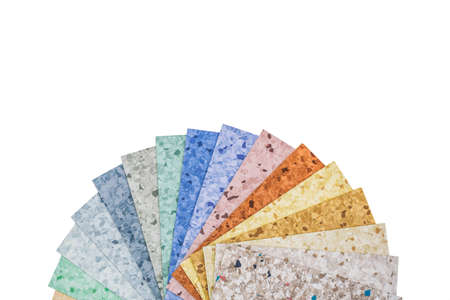 linoleum: The samples of collection natural linoleum, isolated