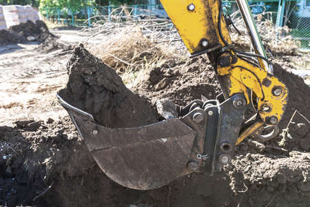 trenches: Excavator for digging trenches