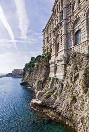 oceanographic: View of Oceanographic Museum of Monaco. Monte Carlo Stock Photo