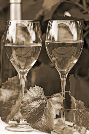 tartaric: The composition of tartaric paraphernalia, on the topic the wine. Old style sepia.