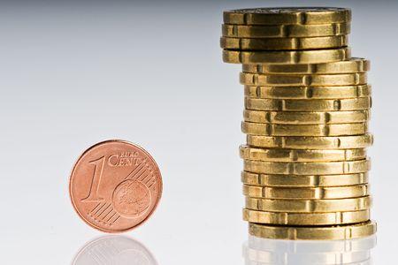 coining: euro coins Stock Photo
