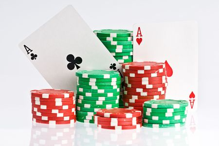 poker cards and chips Stock Photo - 6702767
