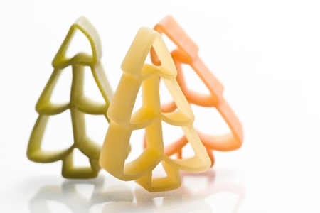 christmas noodles pasta isolated on white ground Stock Photo