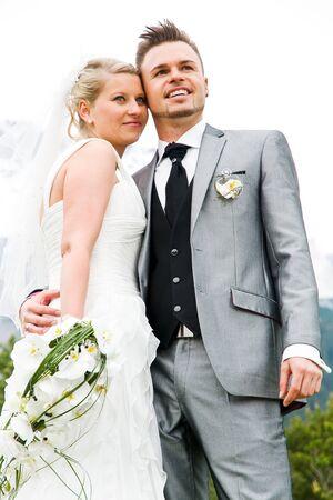 weddingrings: bride and groom couple celebrating their wedding