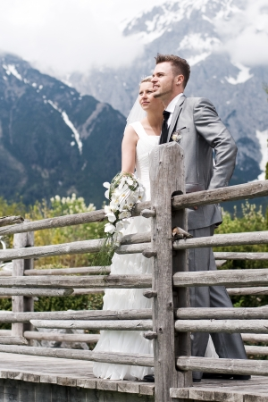 bride and groom couple celebrating their wedding Stock Photo - 14615785