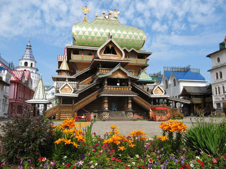 izmaylovskiy: Wooden palace in Izmaylovskiy vernisage (Izmaylovo) in Moscow.