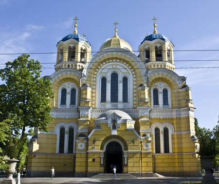 Kiev, Ukraine - May 07, 2010: Vladimirskiy cathedral in Kiev, capital of Ukraine.