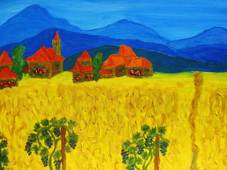 Italy, oil painting, my own. photo