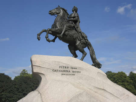 Monument to king Peter First the Great in St. Petersburg, Russia.