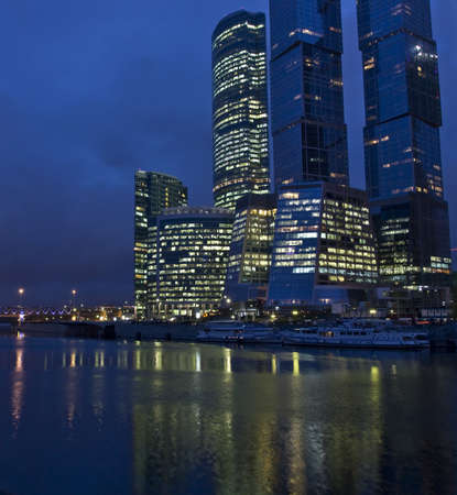 grandiose: Business centre Moscow-city - one of grandiose modern construction projects of the world in 21 century, built from 2004 till 2011, October, 2011, Moscow. Editorial