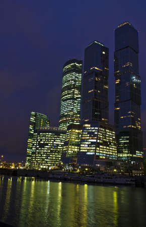 MOSCOW – OCTOBER 10: business centre Moscow-city - one of grandiose modern construction projects of the world in 21 century, built from 2004 till 2011, October, 2011, Moscow. Stock Photo - 11729934