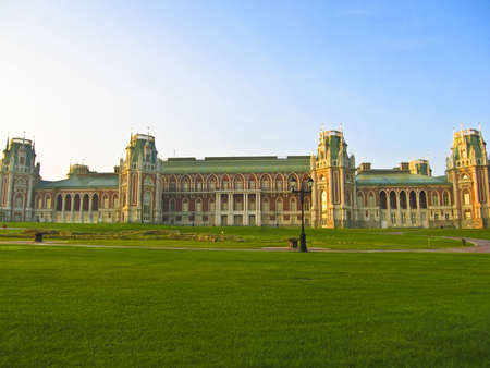 Palace of queen Ekaterina Second Great in Tsaritsino in Moscow, Russia. Stock Photo - 12017817