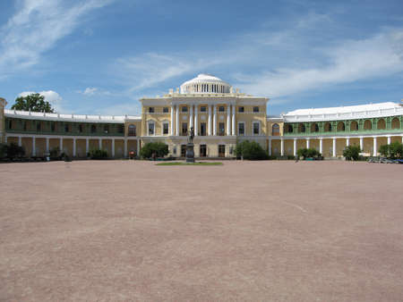 Palace and monument of king Pavel I in Pavlovsk, surroundings of St. Petersburg, Russia. Date of recording 15.07.2008.