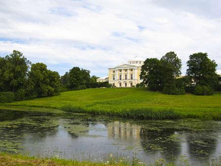 King's palace in Pavlovsk, surroundings of St. Petersburg, Russia. Stock Photo - 12469317
