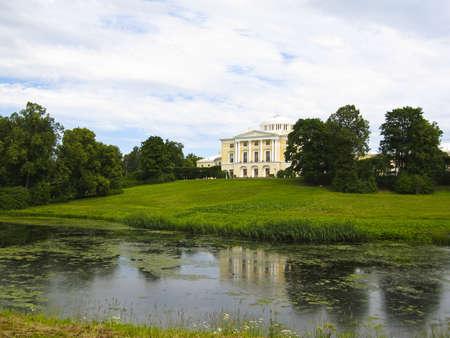 King's palace in Pavlovsk, surroundings of St. Petersburg, Russia. Stock Photo - 12469317