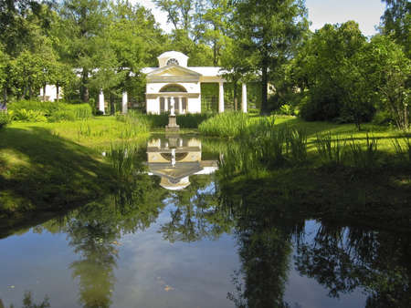 Pavilion in park of king's palace in Pavlovsk, surroundings of St. Petersburg, Russia. Stock Photo - 12563964