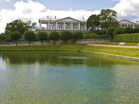 Kings palace in Tsarskoye selo, surroundings of St. Petersburg, Russia.
