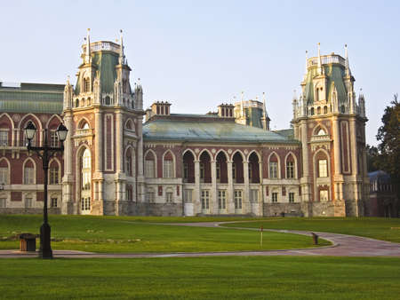 Moscow, Russia - September 05, 2009: palace of queen Ekaterina Second Great in Tsaritsino in Moscow, 18 century. Stock Photo - 12591929