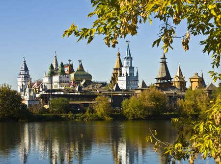 izmaylovskiy: Moscow, vernisage Izmaylvoo (Izmaylovskiy) - exhibition and fair of crafts, wooden architecture, famous touristic landmark. Editorial