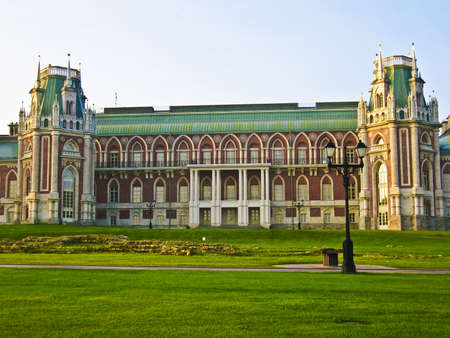 Moscow, Russia - September 05, 2008: Palace of queen Ekaterina Second Great in Tsaritsino in Moscow, Russia. Stock Photo - 12779343
