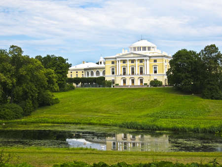 King's palace in park in Pavlovsk, surroundings of St. Petersburg, Russia. Stock Photo - 12779358