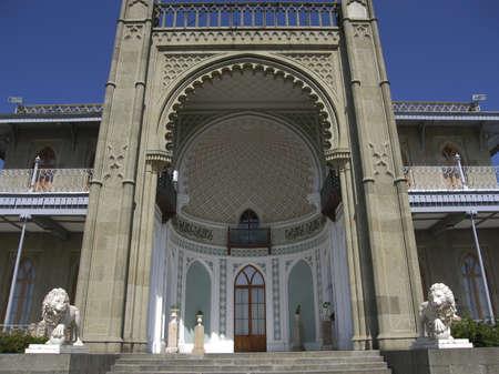 alupka: Alupka, Crimea, Ukraine - September 09, 2009: Vorontcovskiy palace in Crimea, build for earl Vorontcov in 1830-1848 years.