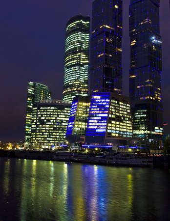 MOSCOW – OCTOBER 10: business centre Moscow-city - one of grandiose modern construction projects of the world in 21 century, built from 2004 till 2011, October, 2011, Moscow. Stock Photo - 12848811